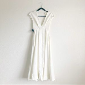 NWT Nasty Gal White Open Back Maxi Dress